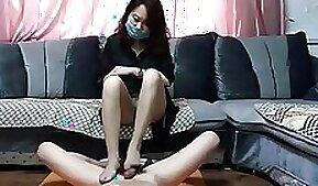 Chinese Mistress Eveline - Gentle Footjob