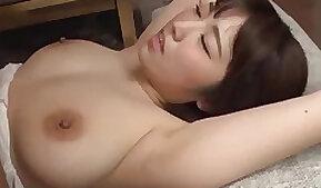 Natural boobs Asian girl Matsumoto Nanami moans during nice sexual congress